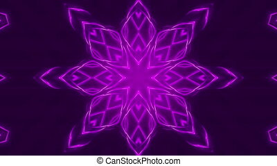 purple abstract background, kaleidoscope light, loop