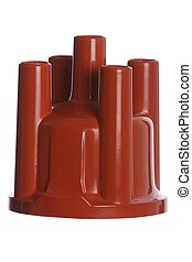 Distributor Cap - Isolated - Distributor cap for an auto -...