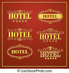 Hotel Vintage labels, vector illustration - Hotel Vintage...