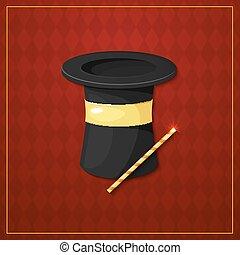 Magician logo, vector illustration - Magician logo, circus...