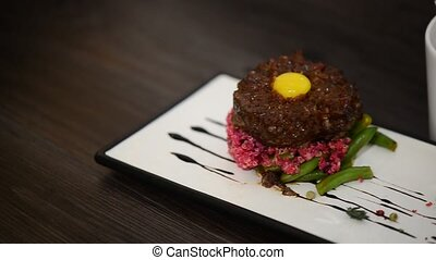 steak tar tar from veal - meat food : steak tar tar from...