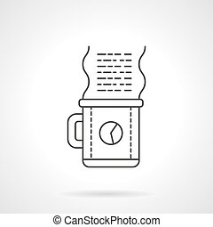 Work coffee icon flat line design vector icon