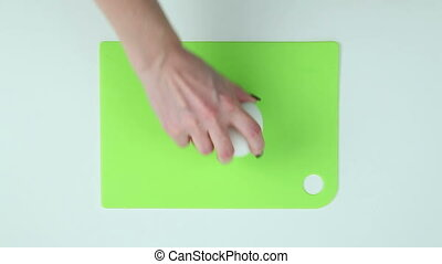 Two eggs are placed on the board