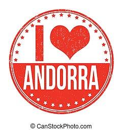 I love Andorra stamp - I love Andorra grunge rubber stamp on...