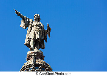 Statue of Christopher Columbus in Barcelona