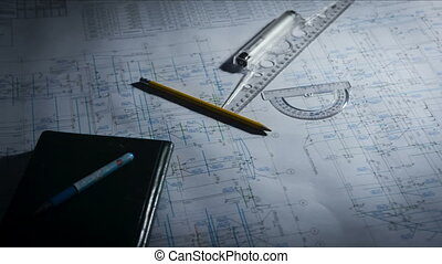 Drawing tools on a blueprint - Drawing tools on a...