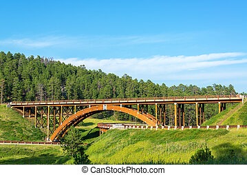 Black Hills Overpass - Highway overpass in the Black Hills...