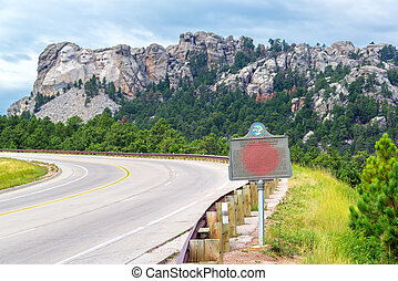 Mount Rushmore and Highway - Highway leading to Mount...