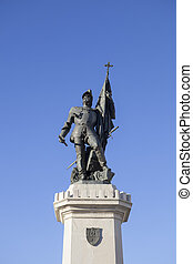 Statue of Hernan Cortes, Medellin, Spain - Statue of Hernan...
