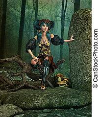 The Secret Elves Rock, 3d CG - 3d computer graphics of a...
