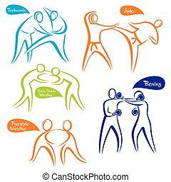 different sports symbol design - abstract different sports...