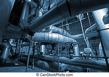 industrial pipes and machines