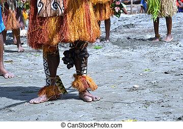 tradizionale, tribale, ballo, a, maschera, festival,