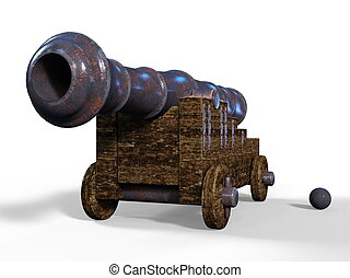 Cannon - 3D CG rendering of cannon