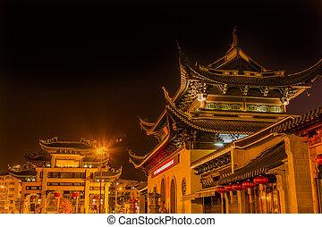 Entrance Gate Buddhist Nanchang Temple Pagoda Wuxi Jiangsu...