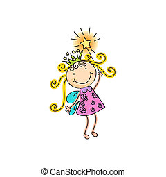 fairy - a beautiful vector illustration of a fairy with...