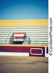 Tauromachie, arena., place, de, Toros,