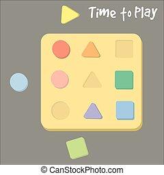 Shape sorter toy for babies vector illustration - Shape...