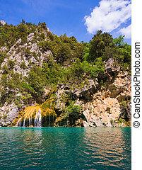The azure rivers Verdon - National park Merkantur, Provence,...