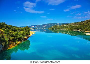 Verdon Canyon - in the French Alps - Verdon Canyon - the...