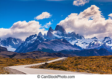 The highway in Patagonia - The highway crosses Patagonia and...