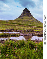 Famous mountain in Iceland Kirkjufell Summer trip to...