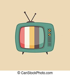 old style television - retro television, old style gadget
