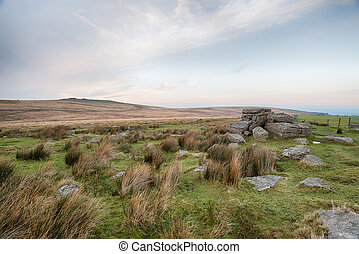 Rugged Dartmoor - Wild and rugged moorland at Okehampton...