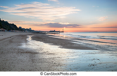 Bournemouth Sunrise - Sunrise over Bournemouth beach with...