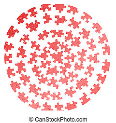 Vector puzzle background - Water drops. A puzzle on a white...