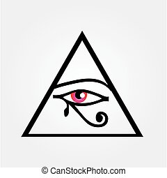 The eye of Horus or symbol of illuminati