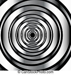 High tech metallic ring background- optical illusion