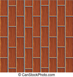Background from a red brick. Vector illustration