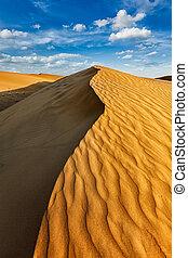 Dunes in Thar Desert - Sam Sand dunes in Thar Desert....