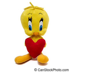 Tweety Bird figure toy character from Looney Tunes cartoons...