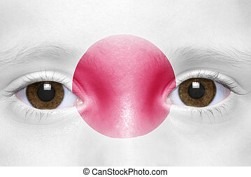 human and 39;s face with japanese flag - human39;s face with...