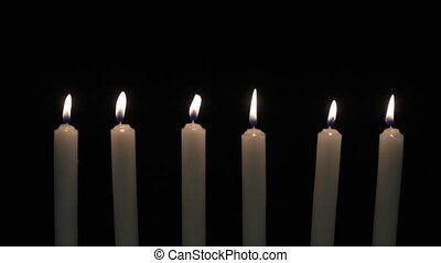 Six candles blow out