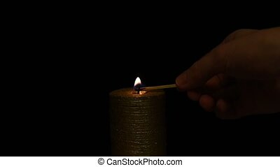 Setting a candle in the dark