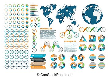 Big set of infographics elements. Template for diagram,...