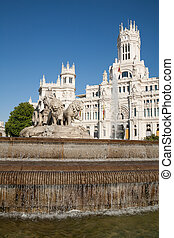Cibeles sculpture fountain in Madrid - landmark of famous...