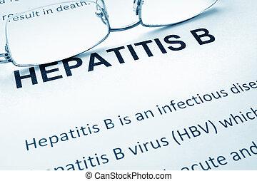 papel,  B, palavras, Hepatite
