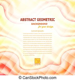 Wavy abstract geometric background vector illustration
