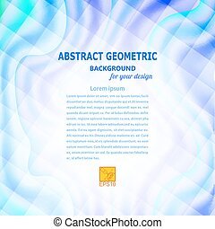 Blue wavy abstract geometric background Vector illustration
