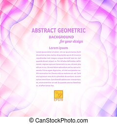 Violet wavy abstract geometric background Vector...