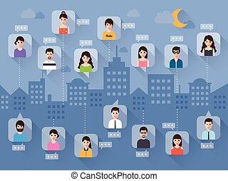 chatting via social network