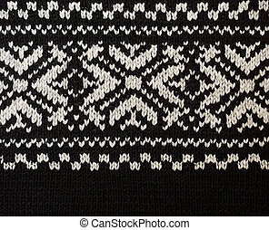 Knitted jersey fabric with winter pattern