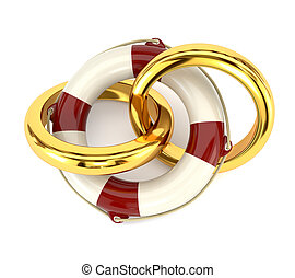 The concept of preservation of the family, wedding rings and...