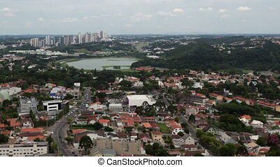 4K Timelapse Curitiba aerial view zoom out - 4K Time lapse...
