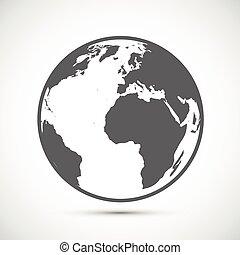 Globe Icon on gray