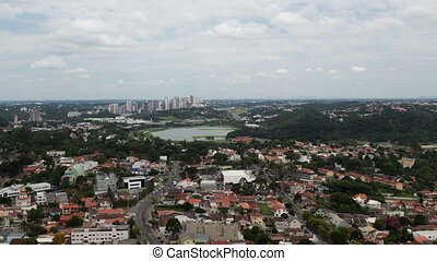 4K Timelapse Curitiba aerial view - 4K Time lapse aerial...